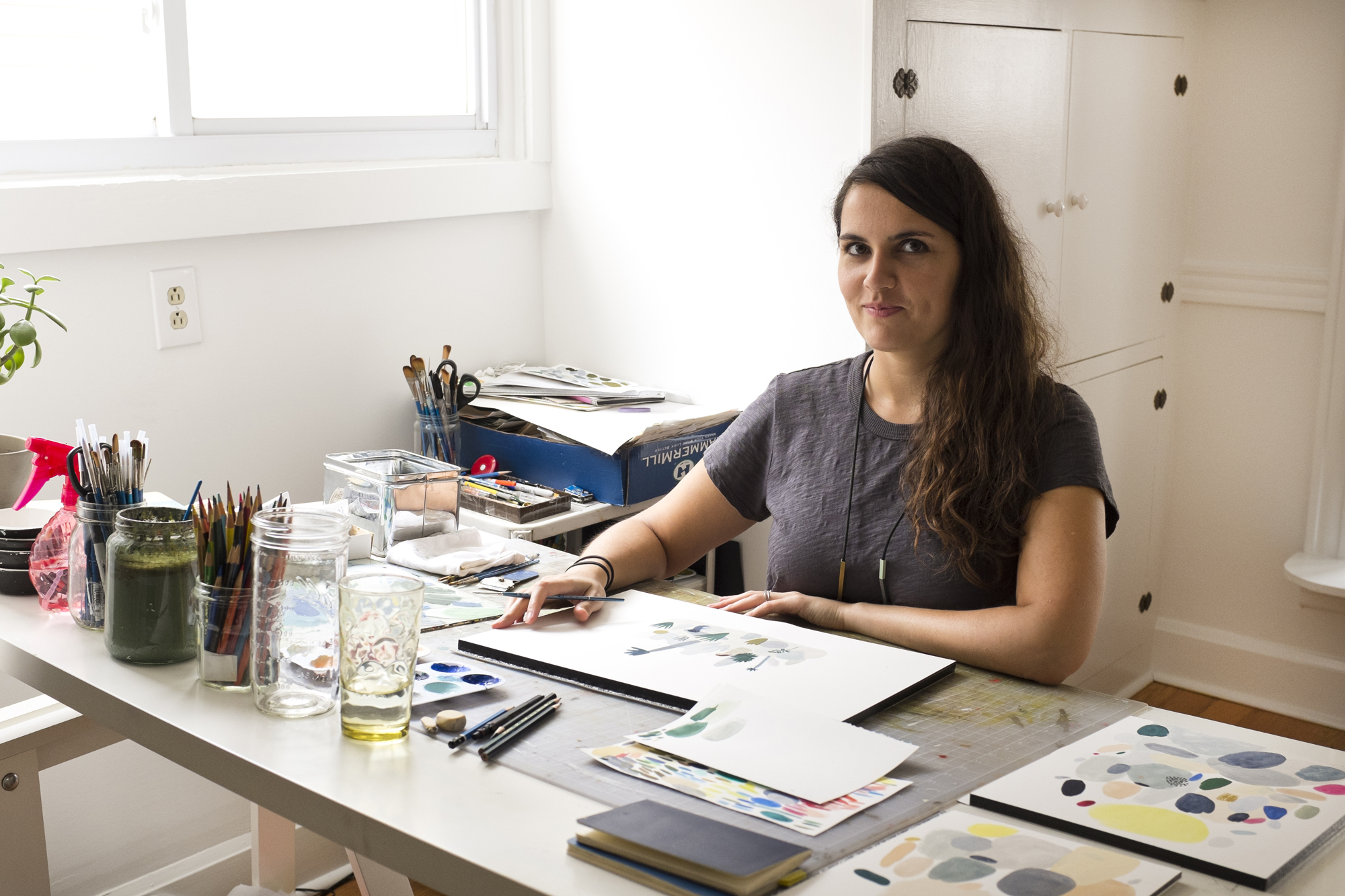 Kate Pugsley at work