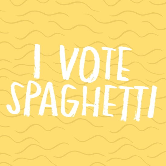 I Vote Spaghetti by Anke Weckmann