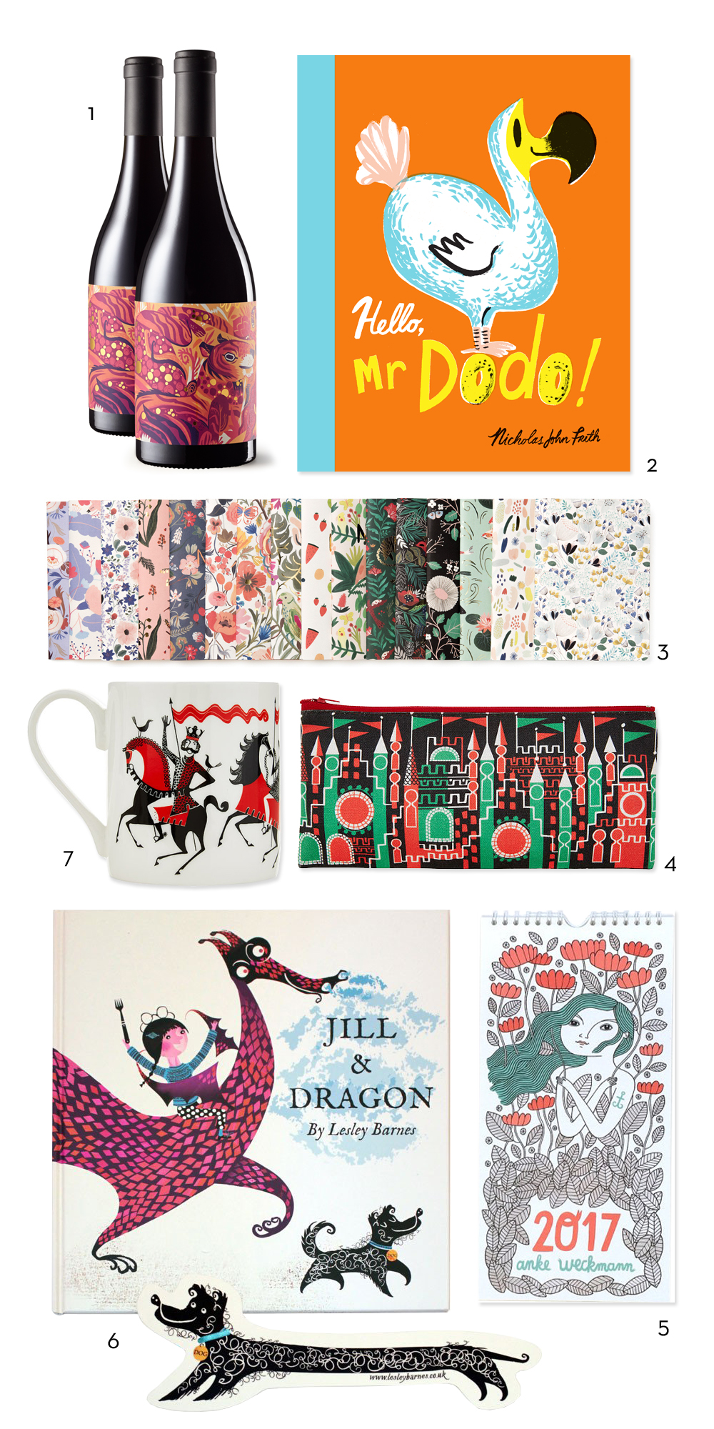 Artist Roundup Gift Guide from Red Cap Cards