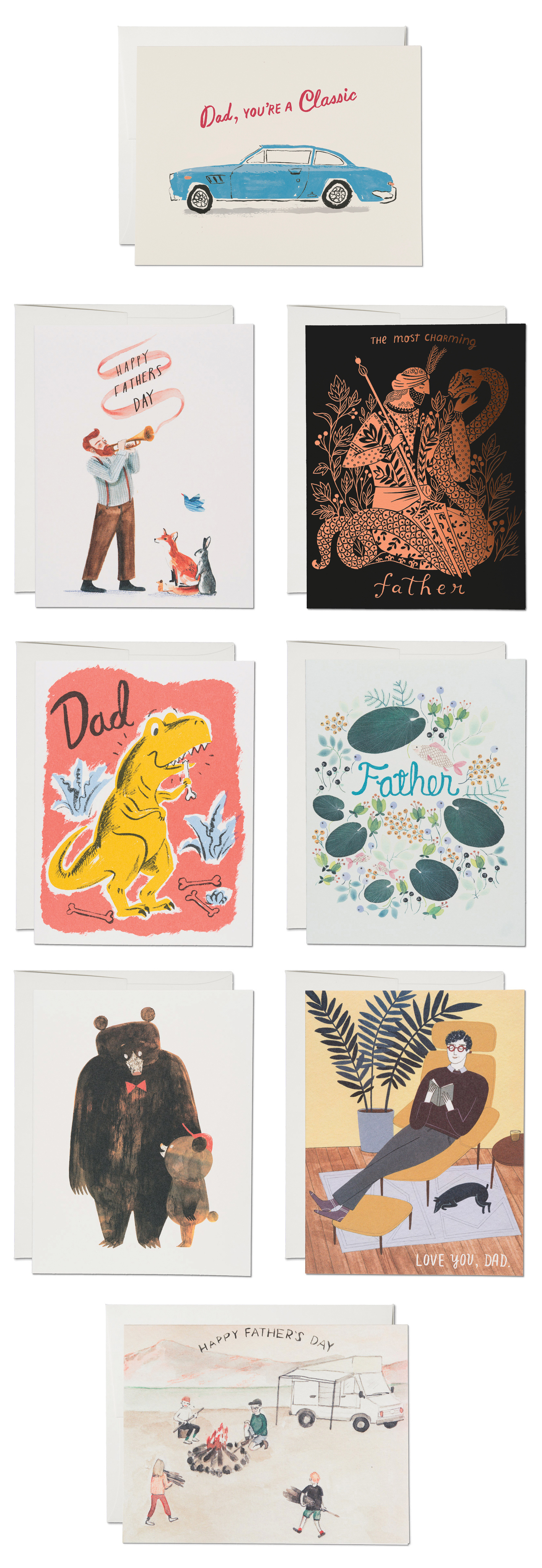 Father's Day with Red Cap Cards