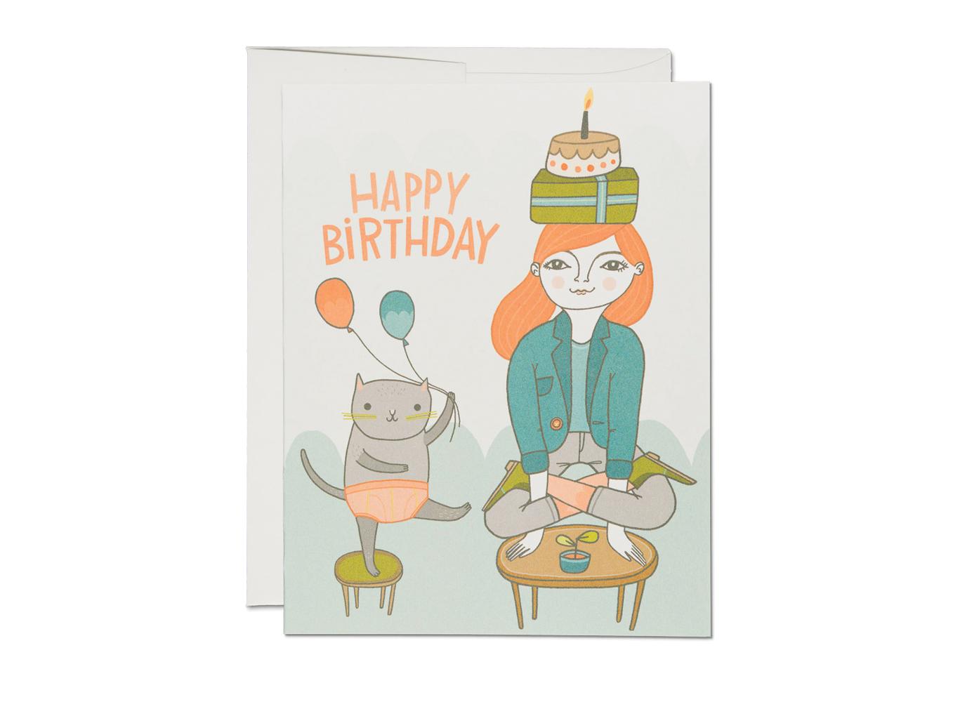 Yoga Birthday Card Best Cars 2018