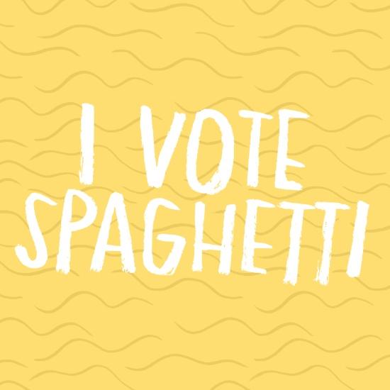 I Vote Spaghetti by Anke Weckmann