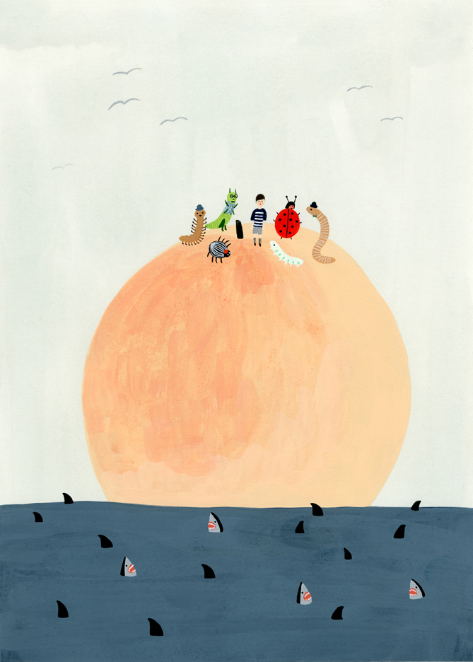 James and the Giant Peach by Kate Pugsley