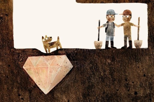 Sam and Dave Dig a Hole by Mac Barnett, illustrated by Jon Klassen