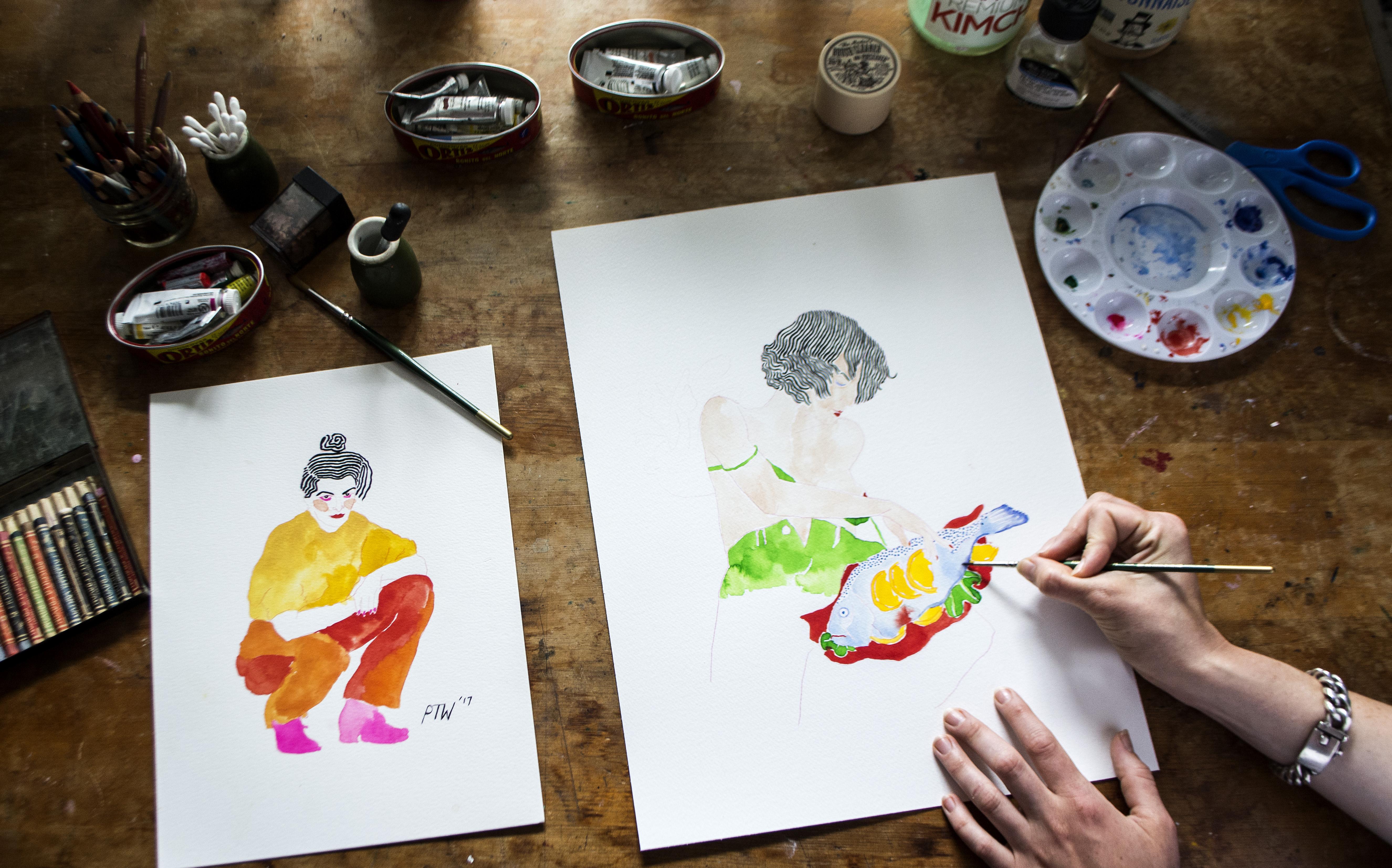 Priscilla Weidlein studio art